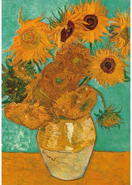 Kunstkarte Vincent van Gogh - Stilleben: Vase mit zwölf Sonnenblumen