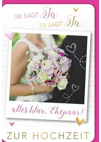 Hochzeitskarte Hochzeit Alles klar, Ehepaar