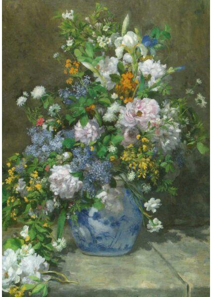 Kunst Postkarte Auguste Renoir - Frühlingsstrauß
