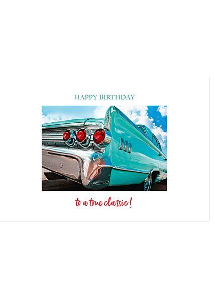 Geburtstagskarte für Männer Happy Birthday to a true Classic Gutsch