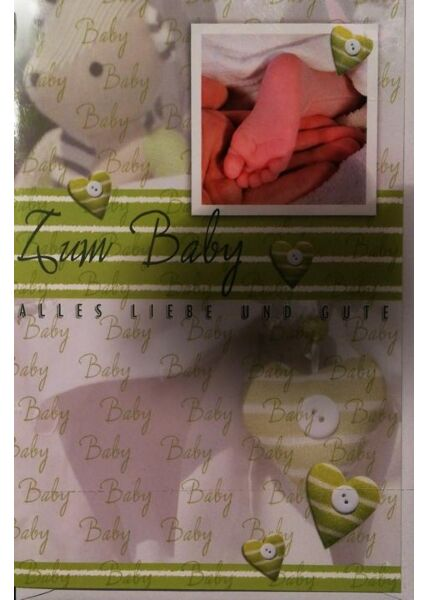 Glückwunschkarte Geburt Baby