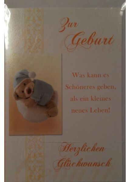 Glückwunschkarte Geburt Baby Teddy