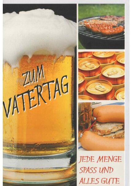 Grußkarten zum Vatertag: Bier und Wurst
