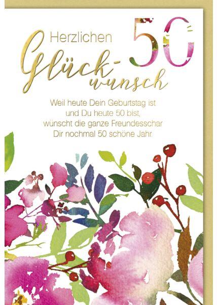 Karte Geburtstag 50 Jahre Weil heut dein Geburtstag ist