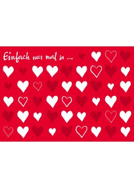 Postkarte Liebe Einfach nur mal so