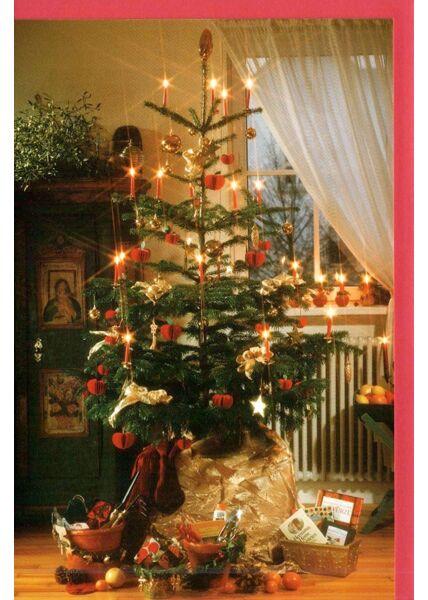 Traditionelle Weihnachtskarten mit Weihnachtsbaum