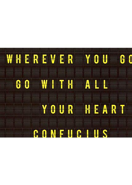 Postkarte Spruch englisch Wherever you go