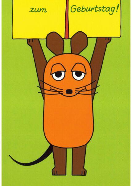 Maus-Postkarte zum Geburtstag Teil 2