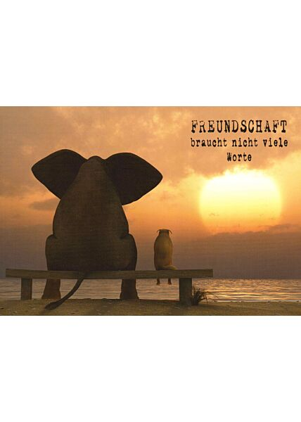 Postkarte Freunschaft Spruch Freundschaft braucht nicht viele Worte