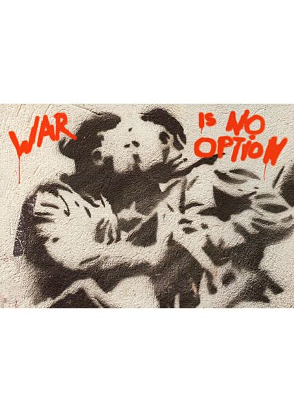 Kunstpostkarte War is no option