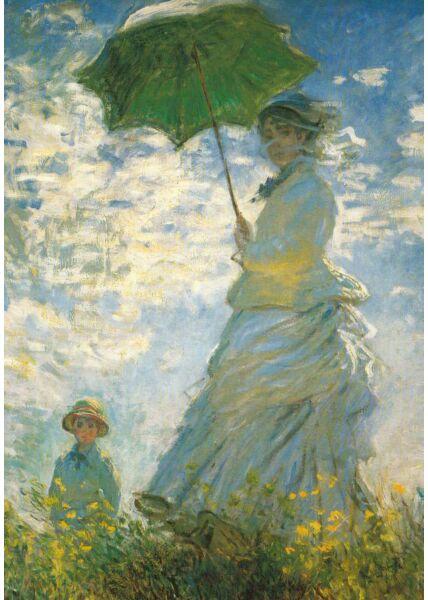 Kunstkarte Claude Monet - Madame Monet mit Sohn