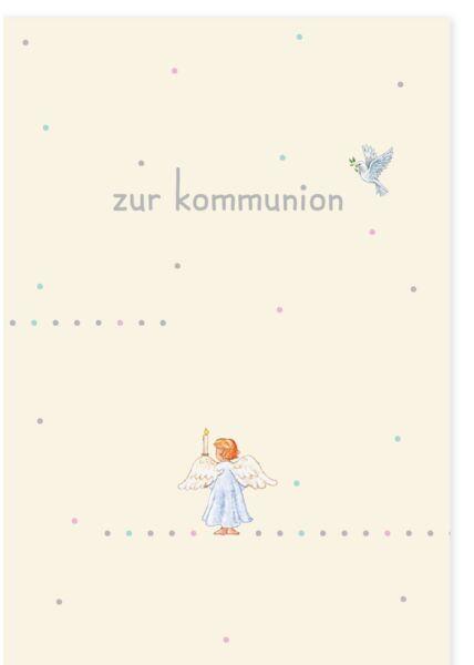 Karte Zur Kommunion Engel mit Kerzen