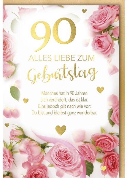 Geburtstagskarte 90 Manches hat sich in 90 Jahren verändert
