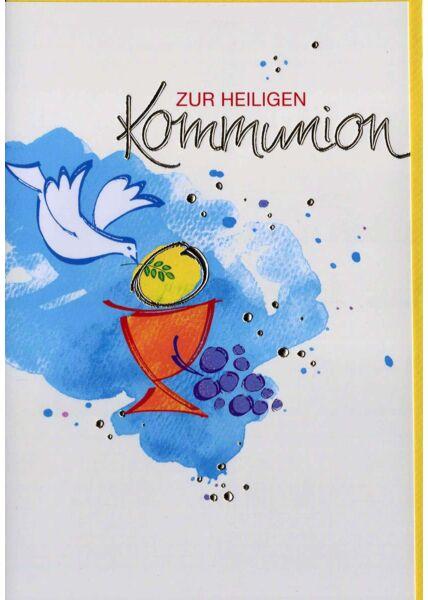 Kommunion: Taube Kelch Weintrauben