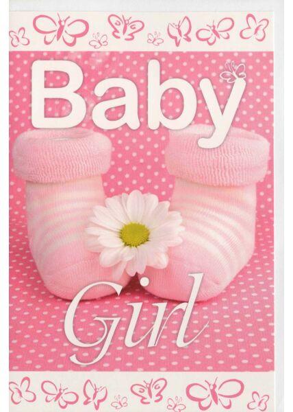 Glückwunschkarte Mädchen Geburt Baby Girl