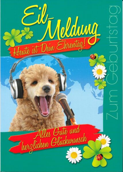 XXL Maxi Geburtstagskarte Eilmeldung