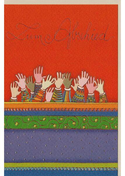 Abschiedskarte premium Qualitätspapier Hände