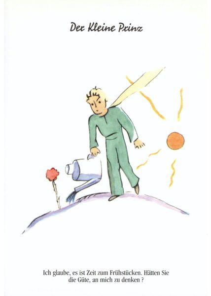 Postkarte Der kleine Prinz Ich glaube es ist Zeit...