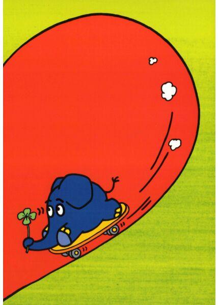 Maus-Postkarte Elefant im halben Herz Teil 2