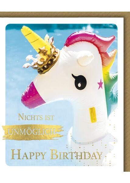 Geburtstagskarte lustig Snapshot Nichts ist unmöglich Happy Birthday