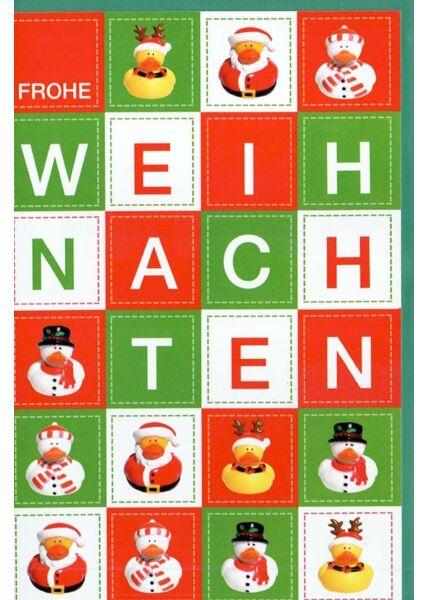 Weihnachtskarte modern originelle Weihnachtsenten