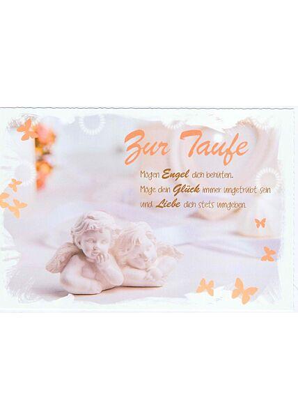 Karte Taufe Engel Glück Liebe