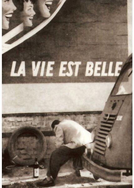 Postkarte im Retrostil La vie est belle!