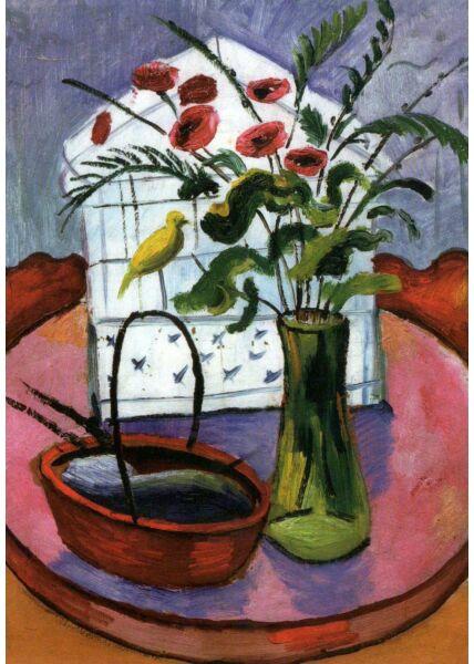 Kunst Postkarte August Macke - Birdcage