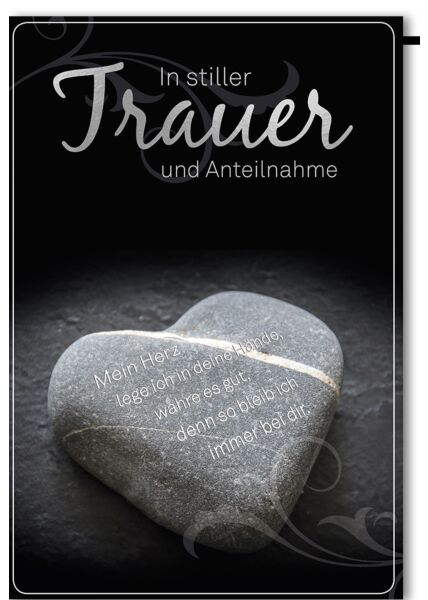 Trauerkarte Beileid Steinherz