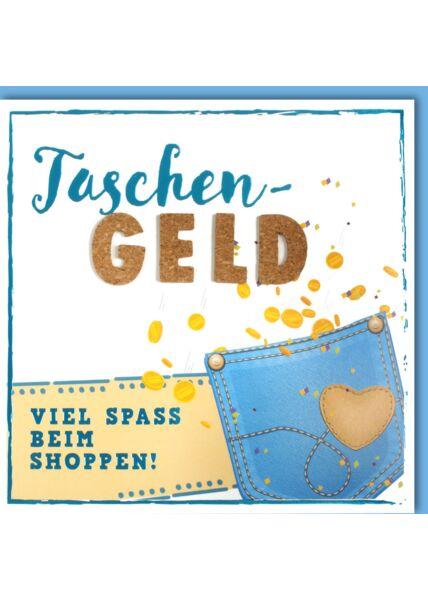 Glückwunschkarte GeburtstagTaschengeld Viel Spaß beim Shoppen