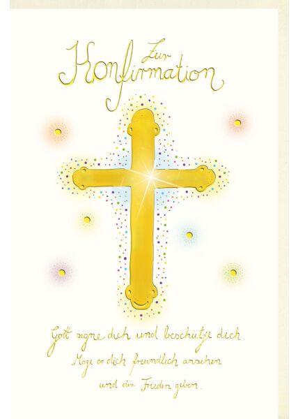 Glückwunschkarte Konfirmation Gott segne dich und beschütze dich