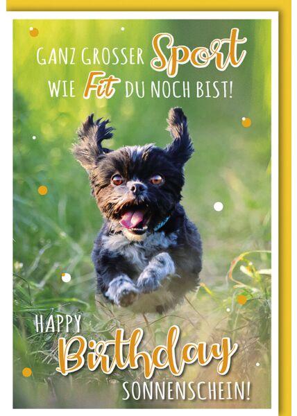 Geburtstagskarte lustig Ganz großer Sport wie fit du bist