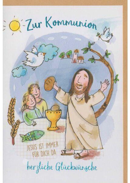 Kommunionskarte christlich mit Jesus