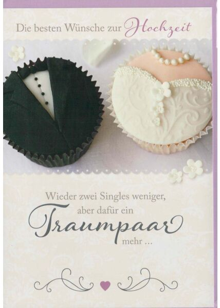 Hochzeitskarte lustiger Spruch: ein Traumpaar mehr