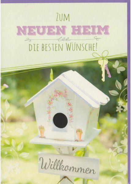 Grußkarte zum Umzug Neues Zuhause Vogelhaus