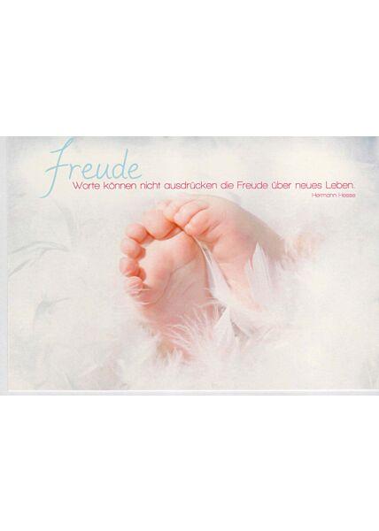 Glückwunschkarte Baby mit Spruch von Hermann Hesse