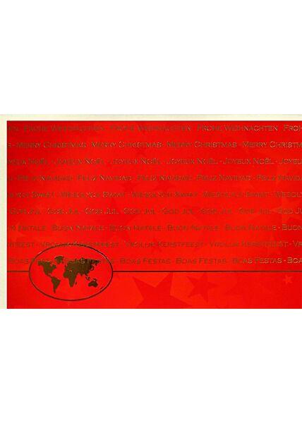 Internationale Weihnachtskarte premium Folienprägung