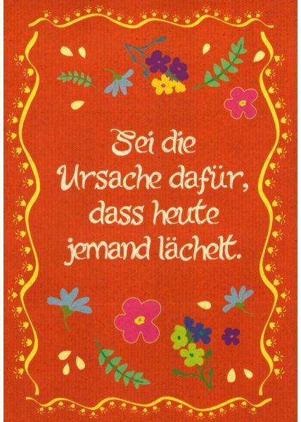 Postkarte Sprüche Bitte Lächeln
