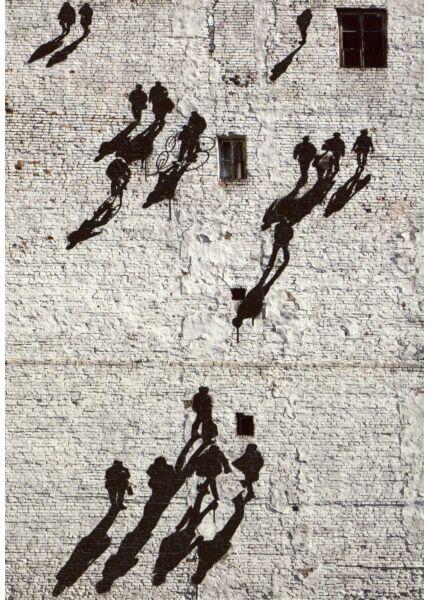 Kunstpostkarte People Grafitty