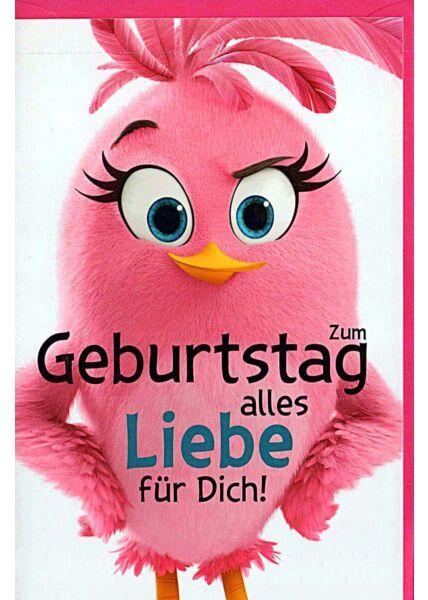 """Geburtstagskarten für Kinder Angry Birds """"alles Liebe für Dich"""""""
