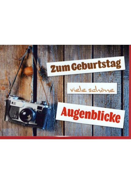 Geburtstagskarte Fotoapparat: Augenblicke