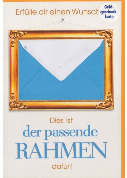 Karte für Geldgeschenk mit Mini-Umschlag: Erfülle dir einen Wunsch