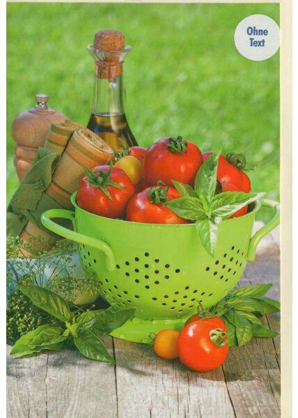 Grußkarten ohne Text: Tomaten