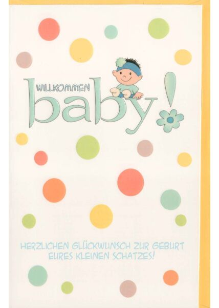 Schöne Geburtenkarte Willkommen Baby