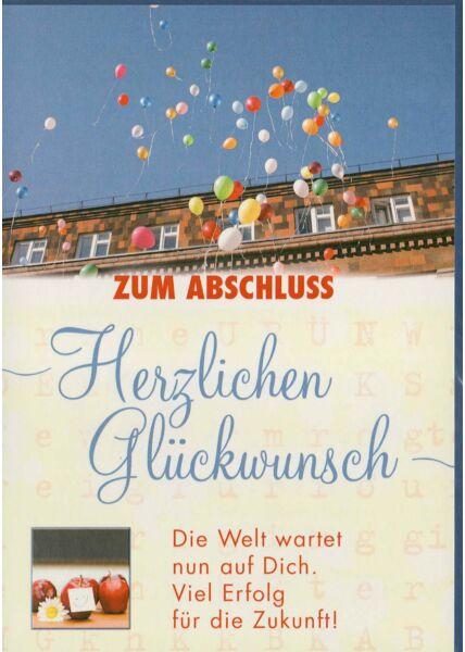 Glückwunschkarte zum Abschluss Ballons