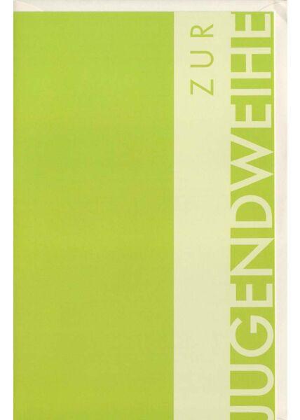 Glückwünschkarte Jugendweihe grün modern