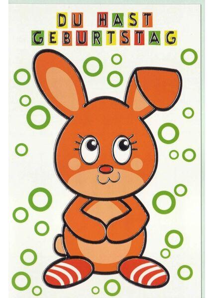 Geburtstagskarte Kinder Bär Hase