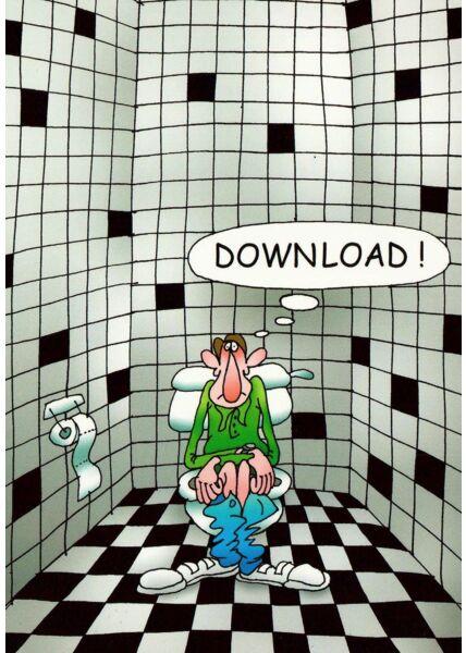 Postkarte Toilette Download lustig