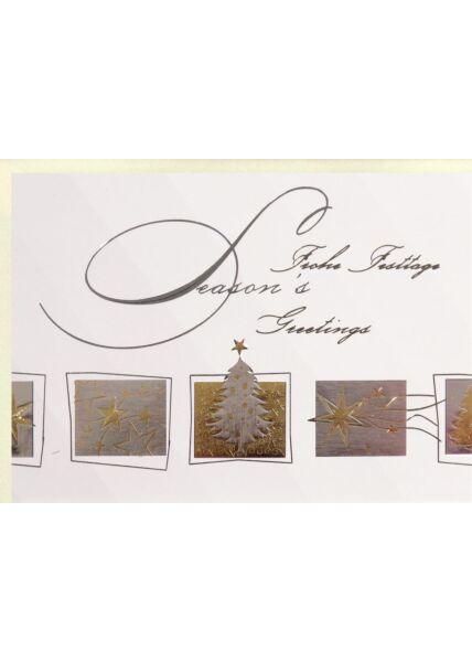 Premium Weihnachtskarte englisch deutsch edles Papier