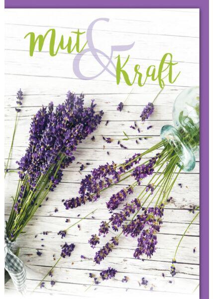 "Genesunskarte - Lavendel ""Mut & Kraft"""